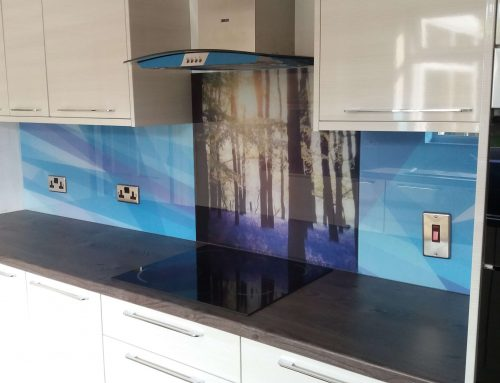 Personalised glass splashback commission