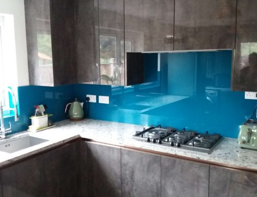 Glass Splashbacks add colour and protection