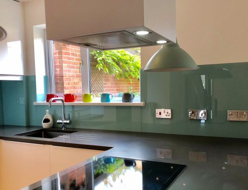 Glass Splashbacks matched to kitchen decor